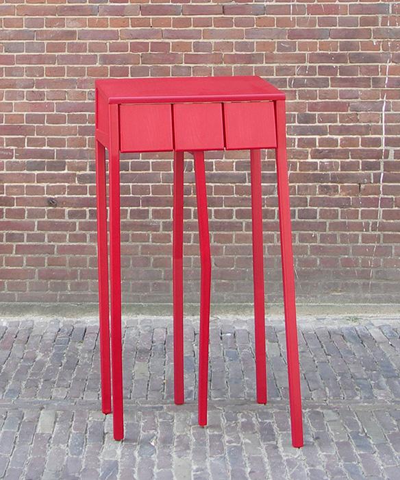 redbox, kastje door Frida van der Poel